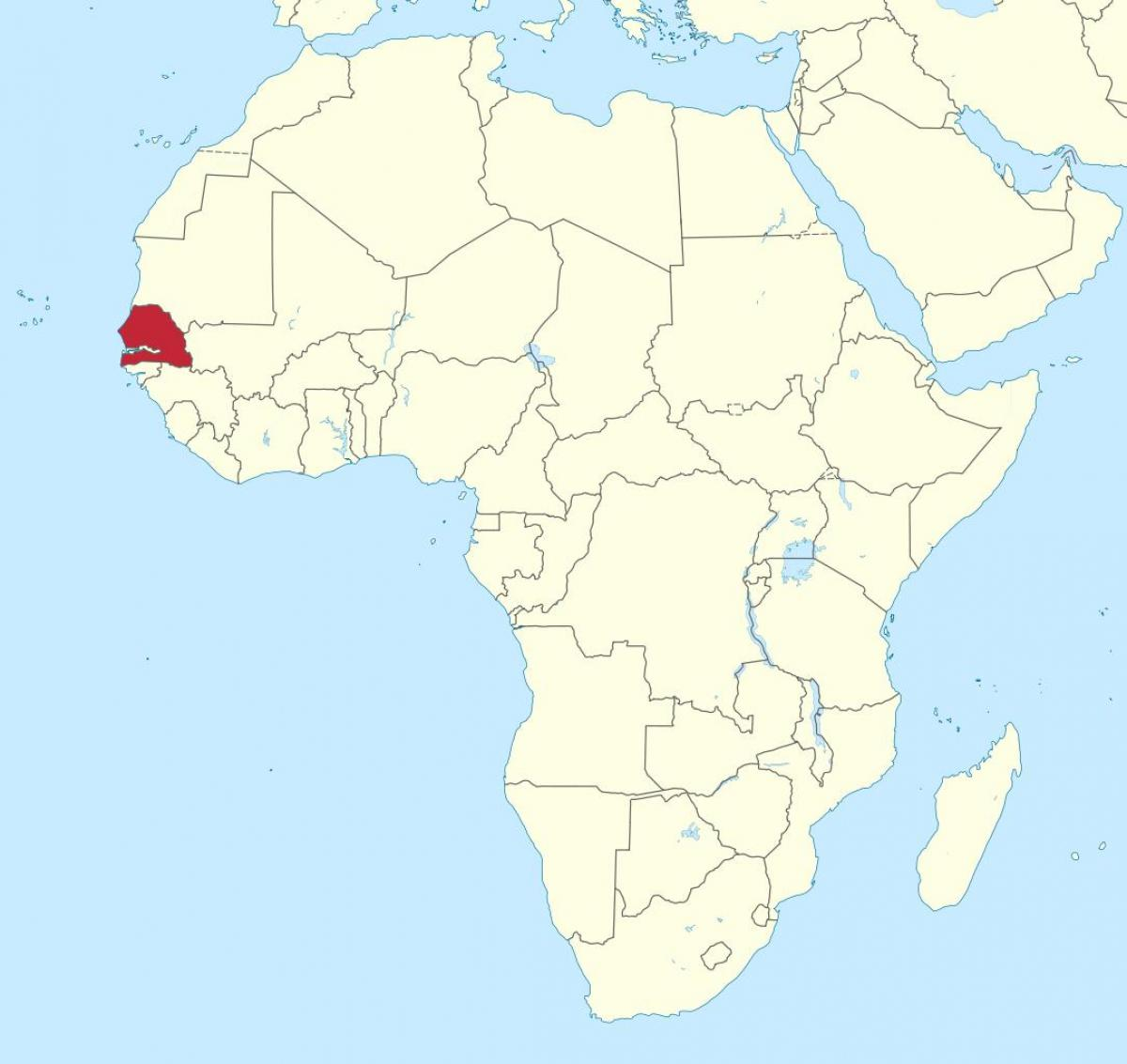 Senegal Mapa Afryki Senegal Na Mapie Afryki Afryka Zachodnia